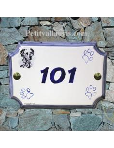 Plaque de maison de style en céramique Les 101 dalmatiens