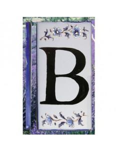 Numero de rue lettre B décor tradition vieux moustiers bleu