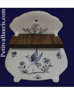 Boîte pour le sel décor Tradition Vieux Moustiers bleu
