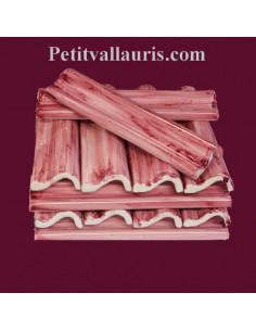 Listel ou corniche émaillée couleur rose