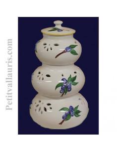 Conservateur Ail, Oignon, Echalotte décor Olive bleue