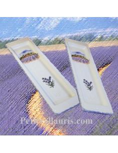 Repose-cuillère en faïence décor Paysage Provençal