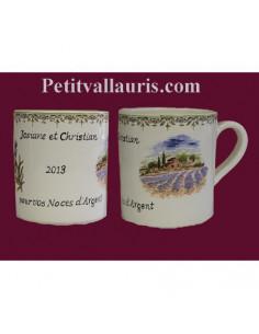 Chope - Mug décor paysage de provence personnalisé prénom