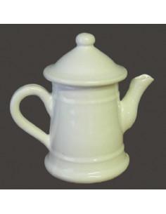 Cafetière miniature en faïence émaillée blanche unie