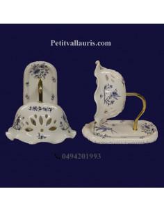 Applique modèle Col de cygne décor Tradition Vieux Moustiers bleu