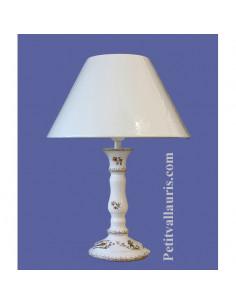 Lampe en faïence modèle chandelier décor Tradition Vieux Moustiers