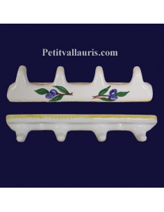 Accroche torchon 4 crochets décor Olives Bleues