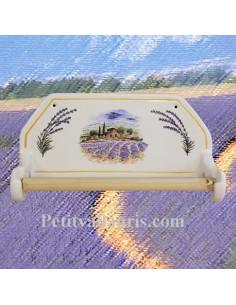Dérouleur de papier essuie-tout mural décor Provence & Lavande