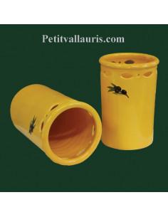 Porte ustensile de cuisine ajouré décor et couleur provençale olives noires