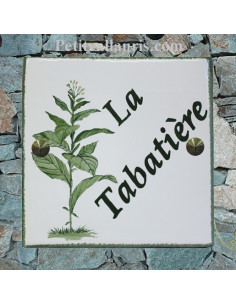 Plaque texte et décor personnalisé pour votre maison décor pied de tabac
