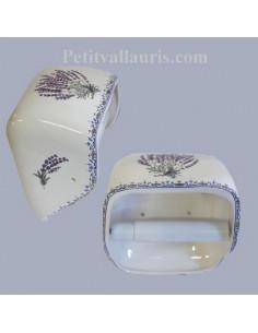 Dérouleur de papier toilette décor fleuri beige NM
