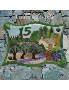 Plaque parchemin pour maison décor personnalisé paysage campagne provençale