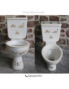 Toilettes-WC décor Tradition Vieux Moustiers polychrome