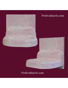 Porte savon modèle mural sur carreau 15 x 15 décor émaillé uni rose