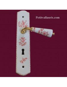 Plaque de propreté décor Tradition Vieux Moustiers polychrome avec serrure