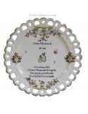 Assiette de Mariage modèle Tournesol inscription avec citation noces d'emeraude