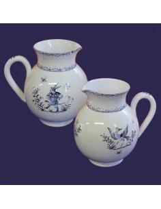 Pichet à eau 1 Litre décor Tradition Vieux Moustiers bleu