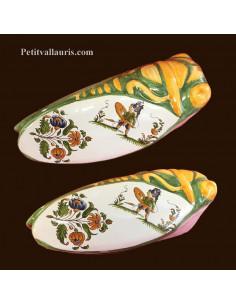 Cigale faïence céramique décor Tradition Vieux Moustiers polychrome (T.2)