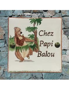 Plaque texte et décor personnalisé pour votre maison décor l'ours qui danse