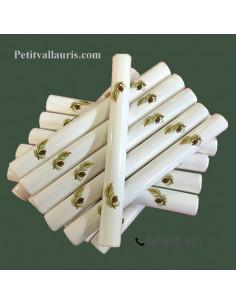 Listel faience modèle fin décor pomme de pin