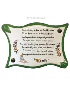 Plaque parchemin pour wc Dagobert avec citation et dessin de trône