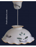 Suspension décorative en céramique ajourée décor Lavande D35