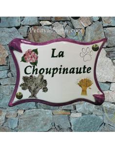 Plaque de maison en céramique décor personnalisé d'après demande particulière de client