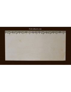 carrelage 10 x 20 en faience décor frise inspiration tradition vieux moustiers polychrome