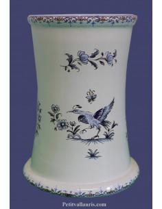 Porte ustensile cuisine décor Tradition Vieux Moustiers bleu