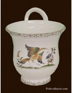 Entonnoir à confiture en céramique décor Tradition Vieux Moustiers polychrome