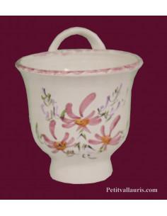 Entonnoir à confiture en céramique décor fleurs roses