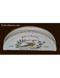 Porte serviette de table personnalisé décor tradition vieux moustiers