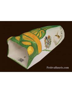 Cigale faïence céramique décor Tradition Vieux Moustiers polychrome (T.5)