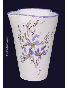 Vase modèle Glaïeul en faïence décor Fleuri hauteur 20 cm
