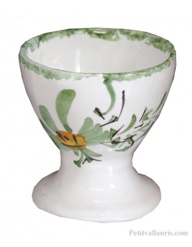 Set de naissance 4 pièces personnalisé décor fleur verte