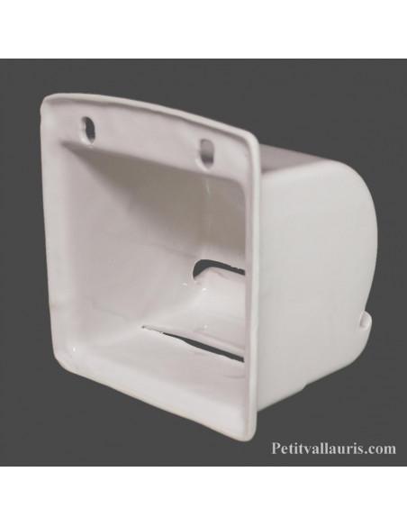 vente Dérouleur de papier toilette décor émaillé uni blanc