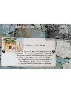 Plaque rectangulaire signalétique en céramique de lieu et de rue texte personnalisée