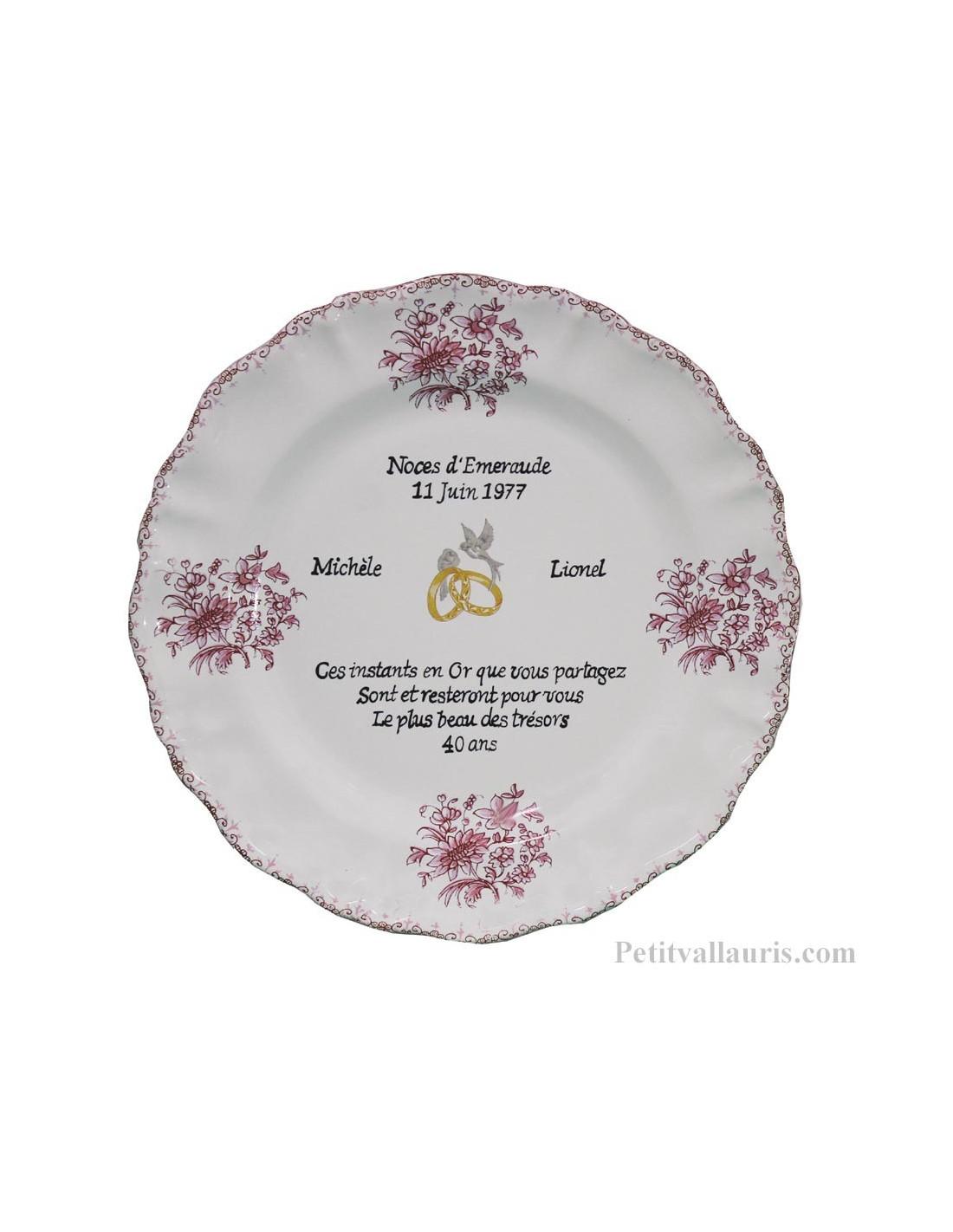 Assiette Décorative En Faience Pour Souvenir Et Anniversaire