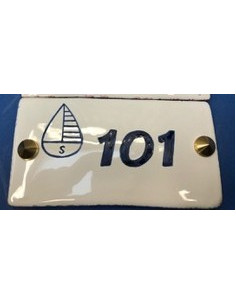 plates with your customized numbers for Sails hotel
