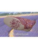 Petite cigale murale en céramique motif fleurs roses (T.2)