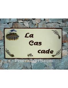 Plaque pour maison en céramique En Provence bord rouille