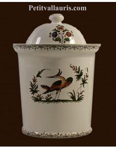 Pot de cheminée à épice modèle rond reproduction Vieux Moustiers polychrome taille 3