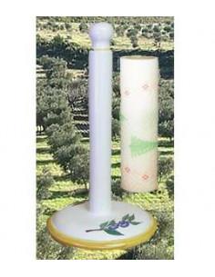 Dérouleur de papier essuie-tout décor Olive bleue