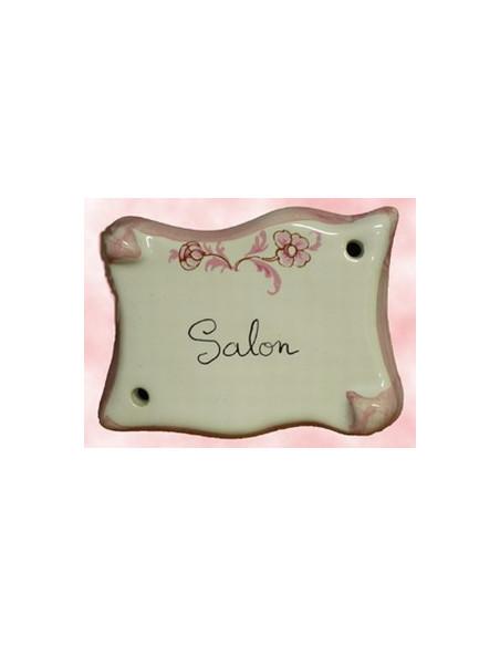 Plaque parchemin Salon tradition vieux moustiers rose Fin de série