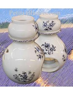 Brûle parfum décor Tradition Vieux Moustiers bleu
