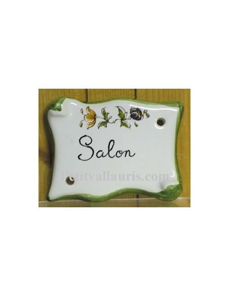 Plaque parchemin Salon tradition vieux moustiers polychrome Fin de série