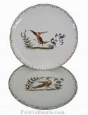 Assiette en faience de table dessert modèle simple décor reproduction vieux moustiers