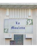 Fresque décorative fleurs bleues texte personnalisable