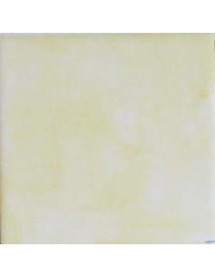 Carreau faience émaillé uni jaune assortit fresque 20 x 20 cm épaisseur 0.5 cm assortit aux décors