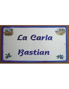 Fresque décorative rectangulaire décor olive et texte personnalisé
